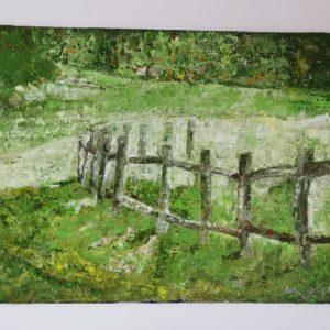 Profesjonalny obraz malowany farbami olejnymi . Przedstawia sielankowe życie na wsi. Obraz do powieszenia.